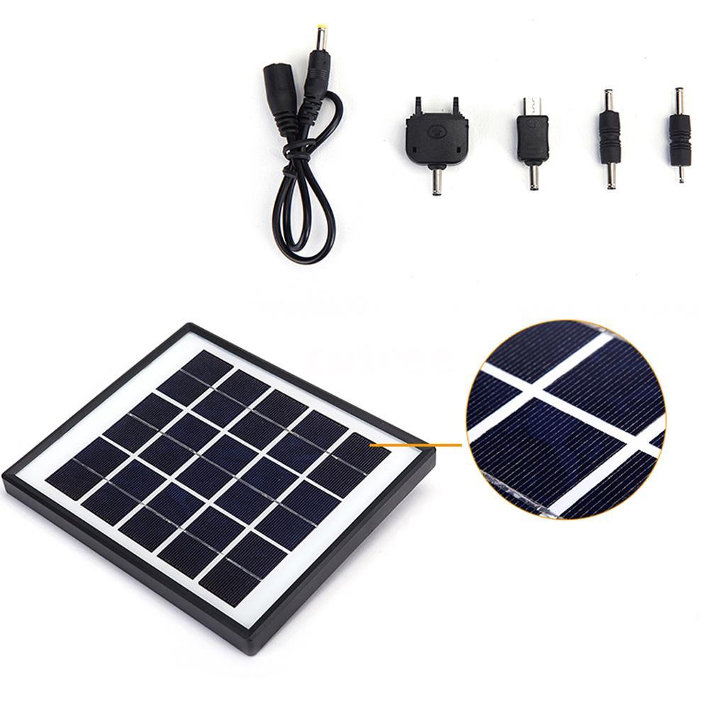 4w solar powered panel 3 led licht lampe usb 5v handy. Black Bedroom Furniture Sets. Home Design Ideas